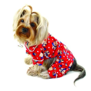 Klippo Winter Teddy Bear Flannel Dog Pajamas-Paws & Purrs Barkery & Boutique
