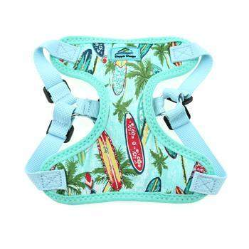 Doggie Design Surfboards & Palms Wrap & Snap Choke Free Dog Harness-Paws & Purrs Barkery & Boutique