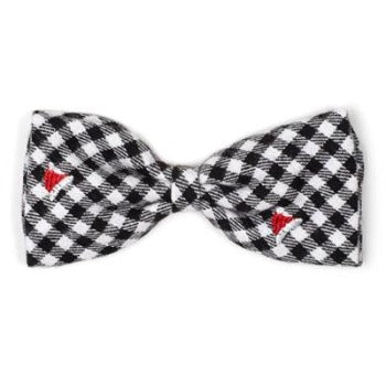 Worthy Dog Check Santa Hats Dog Bow Tie-Paws & Purrs Barkery & Boutique
