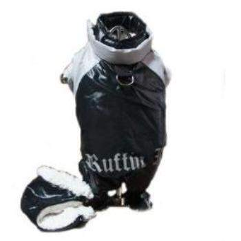 "Doggie Design Black and Grey ""Ruffin It"" Dog Snow Suit -Paws & Purrs Barkery & Boutique"