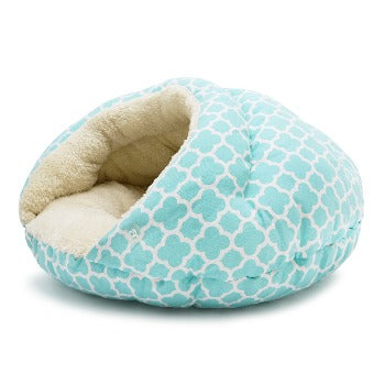 Dogo Burger Dog Bed Geo Diamond Blue-Paws & Purrs Barkery & Boutique