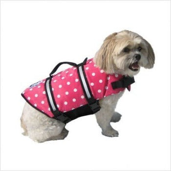 Paws Aboard Pink Polka Dot Dog Lifejacket-Paws & Purrs Barkery & Boutique