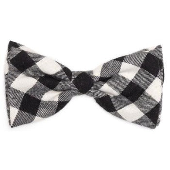 Worthy Dog Black & Off White Buffalo Plaid Dog Bow Tie-Paws & Purrs Barkery & Boutique