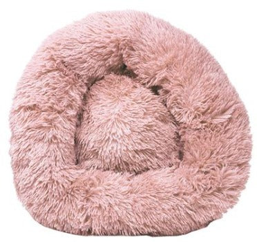 'Nestler' High-Grade Plush and Soft Rounded Dog Bed