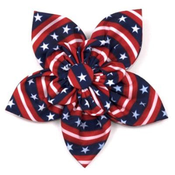 The Worthy Dog Stars & Stripes Dog Collar Flower-Paws & Purrs Barkery & Boutique