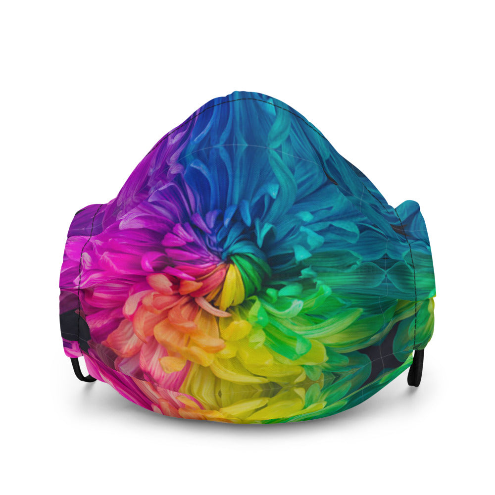 Rainbow Flower Power Premium Face Mask