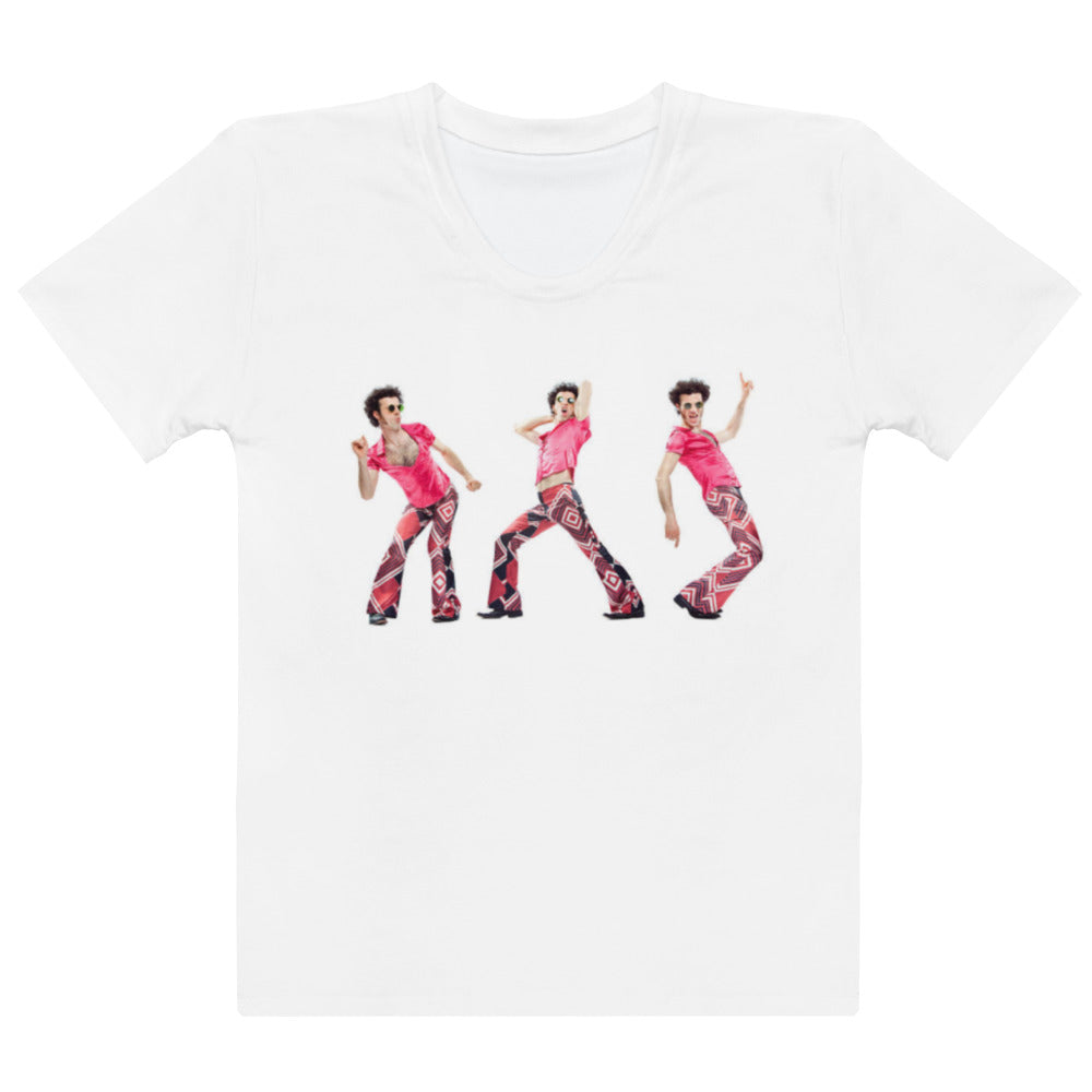 Women's Groovy in Pink T-shirt