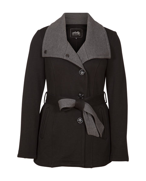 Fleece Belted Wrap Jacket