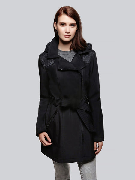 Soft Shell Asymmetrical trench coat
