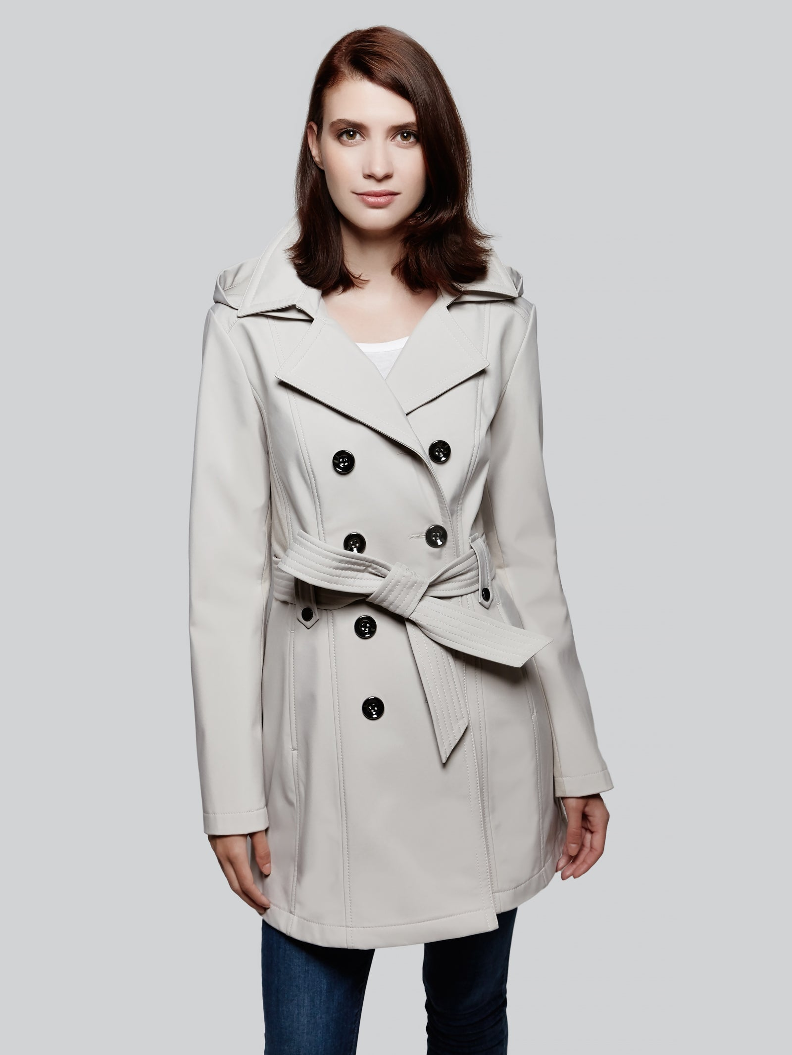 Soft shell trench coat