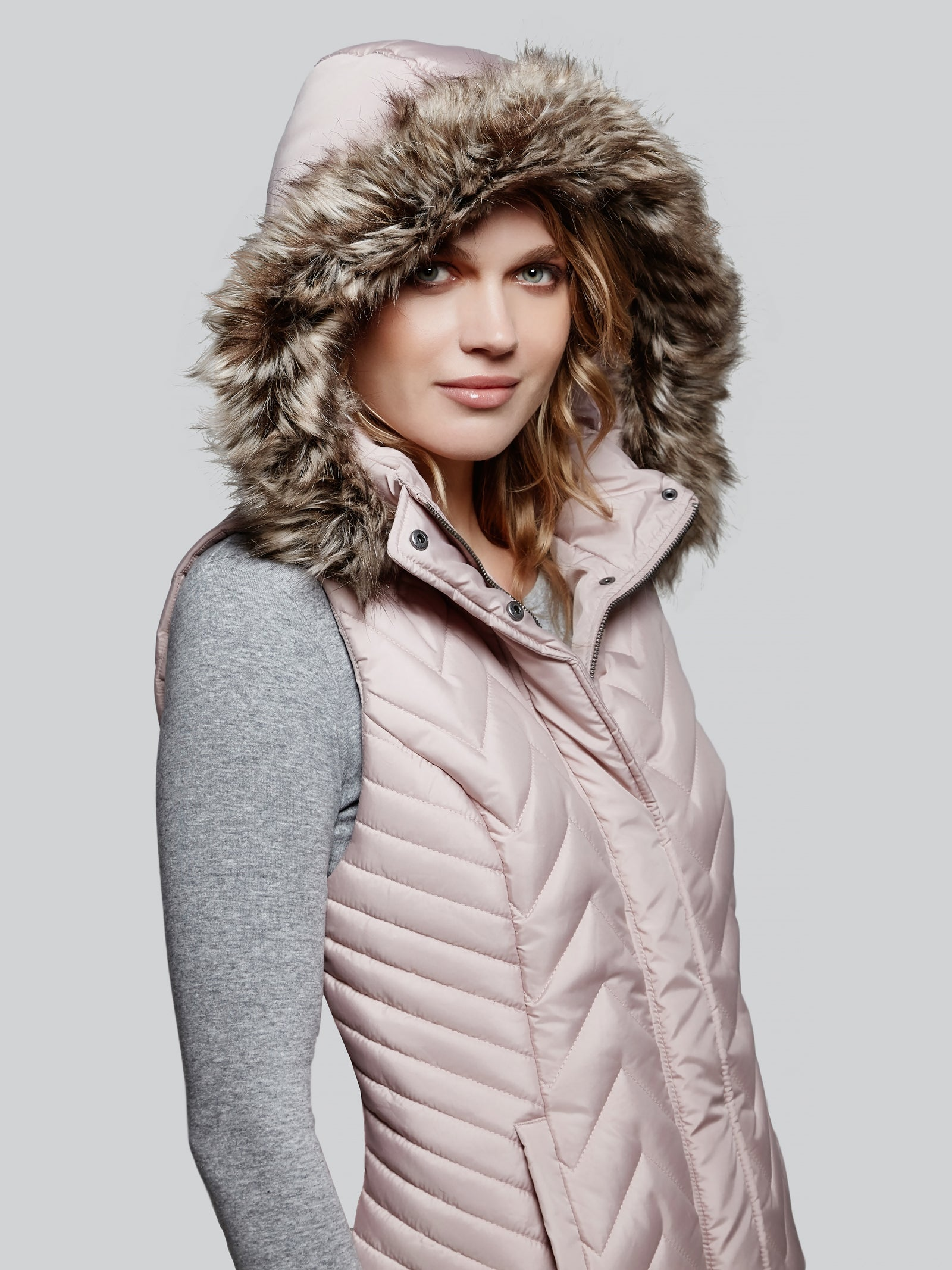 Poly fill quilted vest