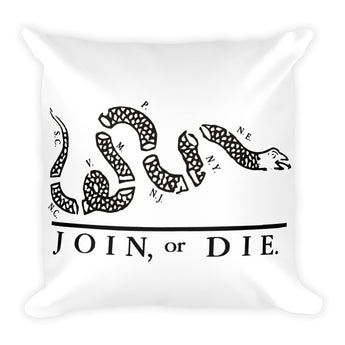 Join or Die Square Pillow