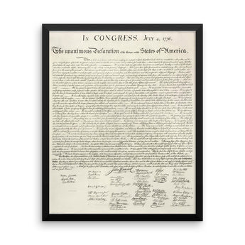 Framed Declaration of Independence of The United States
