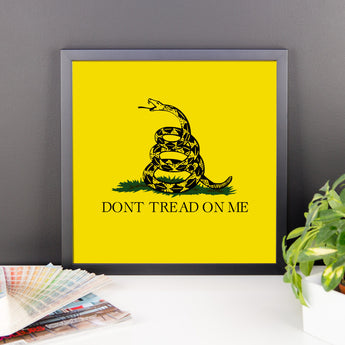 Framed Gadsden (Don't Tread on Me) Flag