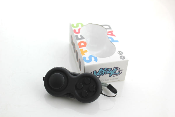 WeFidget's Fidget Pad - 9 Fidget Features, Perfect For Skin Pickers, ADD, ADHD, Anxiety and Stress Relief, Black Edition