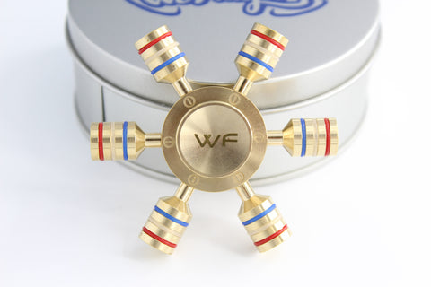 WeFidget's Original Modular Fidget Spinner Toy, Fully Detachable Arms, Replaceable R188 bearings