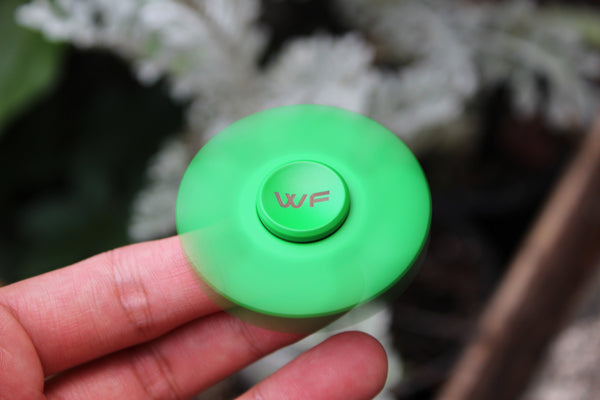 WeFidget's Lucky Clover Fidget Spinner, Extremely Smooth, Well Balanced, 4-5 minutes spin time.