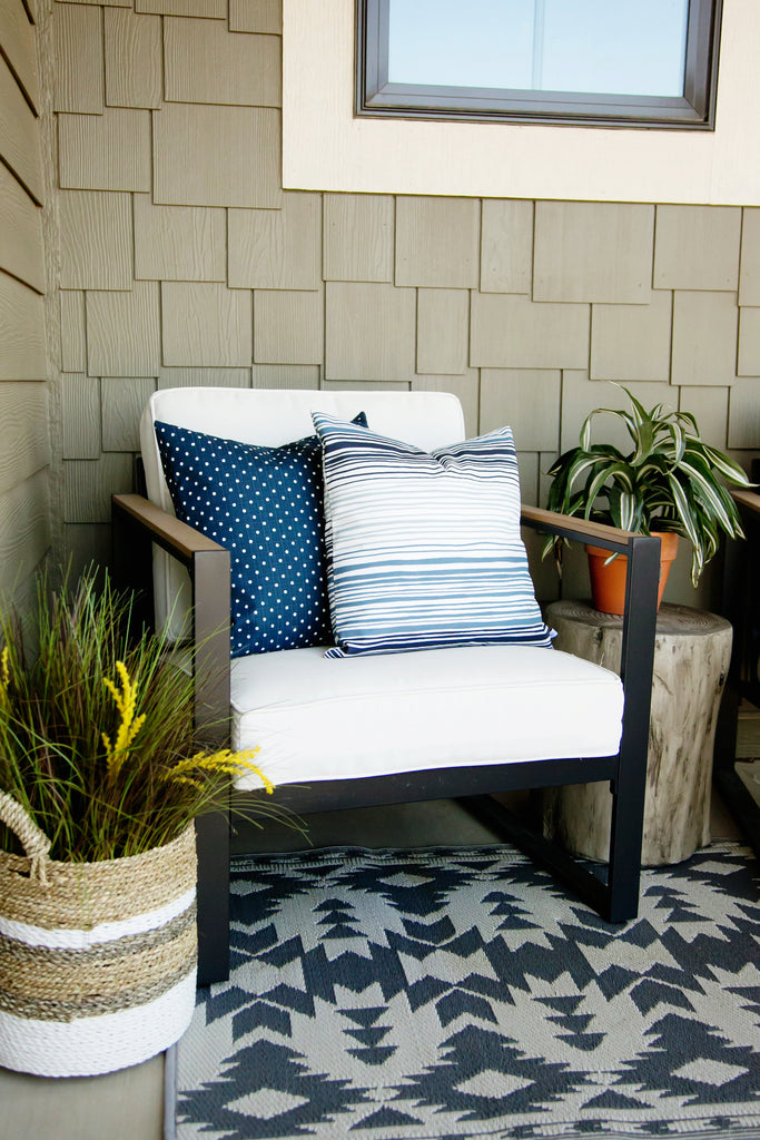 Navy Dot Outdoor Pillow Cover - Harmony House, LLC