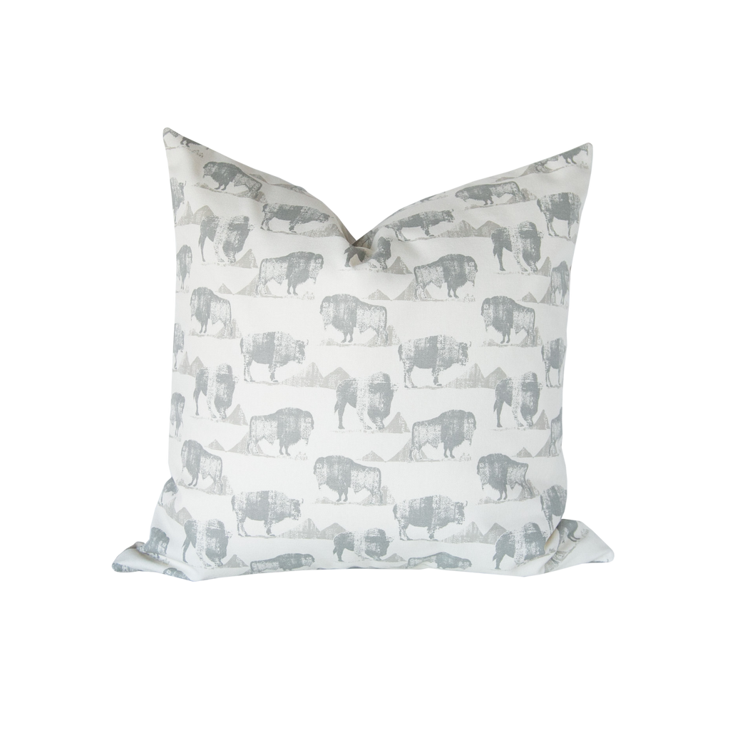 Buffalo Pillow Cover - Harmony House, LLC