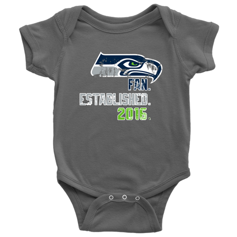 Seahawks Baby Fan Established. 2016.