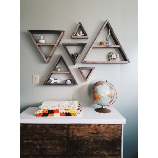 Set of 6 Triangle Shelves