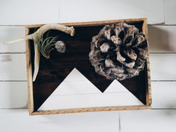 Reclaimed Wood Serving Tray - White Mountains