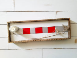 Reclaimed Wood Serving Tray - Red and Silver