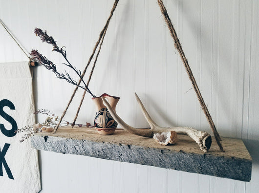 Hanging Log Shelf