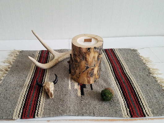 Beetlekill Pine Log Candles