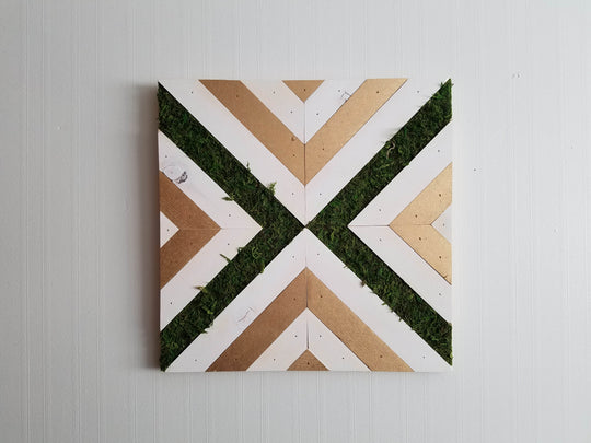 Gold Moss Wall Art 01