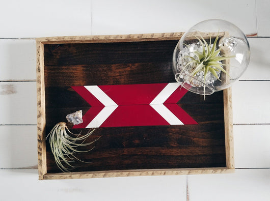 Serving Tray - Maroon Arrow