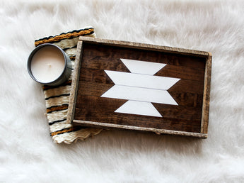 Serving Tray - White Aztec