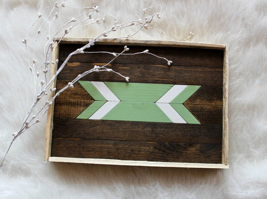 Serving Tray - Seafoam Arrow
