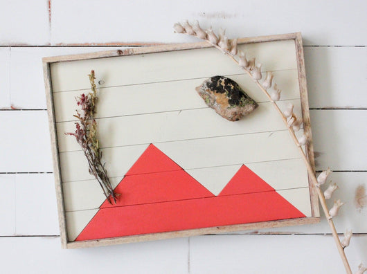 Reclaimed Wood Serving Tray - Salmon Mountains