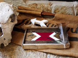 Reclaimed Wood Serving Tray - Maroon Arrow