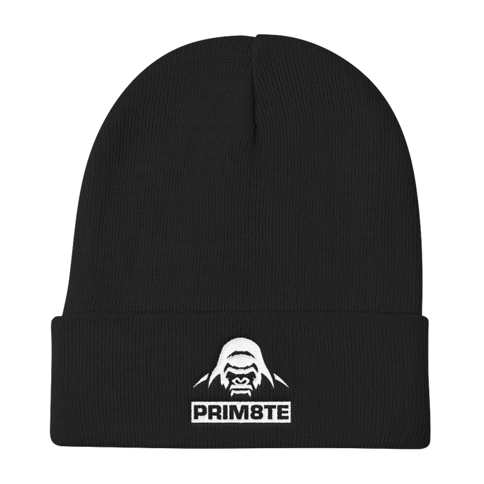 Simple Savage White Logo Beanie