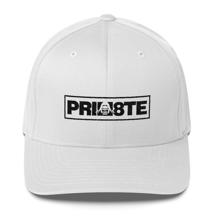 Prim8te Black Logo Flex Fit Cap