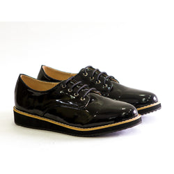 Dej Black Derby Platform Shoes
