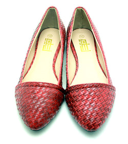 Dej Woven Flats (Red)