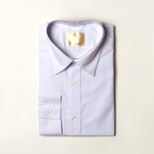 Dej White Straight Collar Shirt (Slim-Fit)