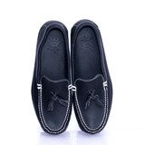 Dej Black Tassel Boat Shoes