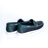 Dej Black and Green Boat Shoes