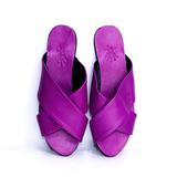 Dej Purple Femme Cross Slippers