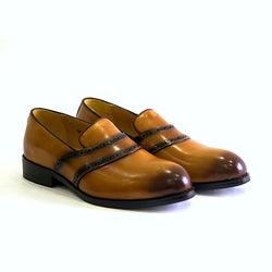 Dej Burnished Tan Raro Loafers