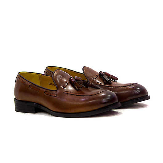 Dej Brown Tassel Loafer (Wide)