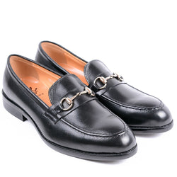 Dej Black HorseBit Loafers