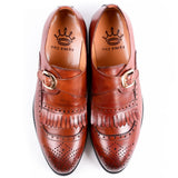 Dej Brown Monk Fringe Brogues