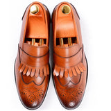Dej Tan Fringe Loafers (Slim)