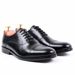 Dej Black RoundToe Oxford (Slim)