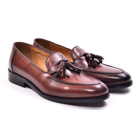 Dej Brown Tassel Loafers